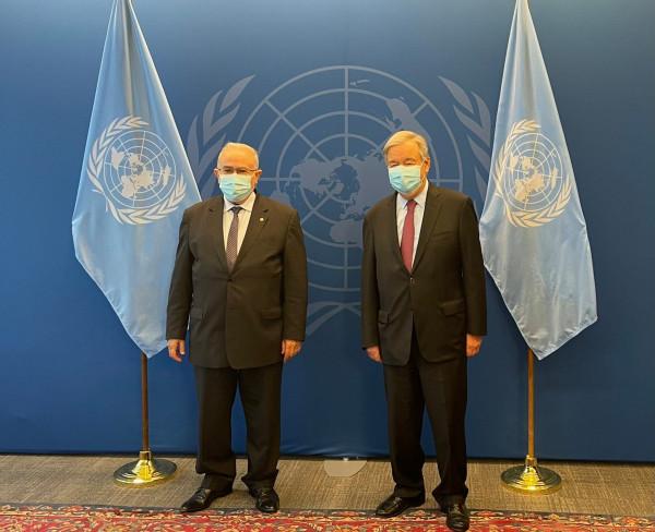 وزير خارجية الجزائر والأمين العام للأمم المتحدة يناقشان أزمة الصحراء الغربية