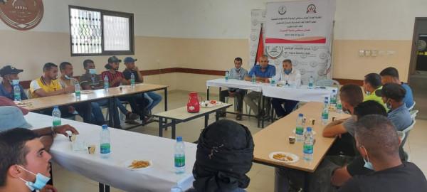 نقابة عمال البلديات تلتقي العاملين في بلدية النصيرات