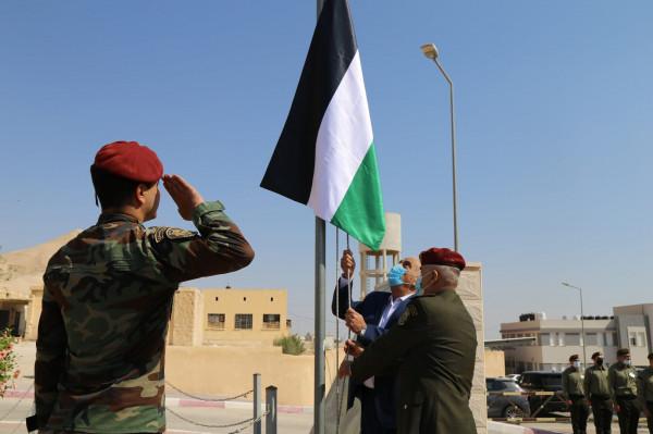 رفع العلم الفلسطيني في مقر الهيئة بمناسبة اليوم الوطني للعلم الفلسطيني