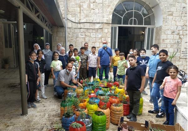 """""""التعليم البيئي"""" ينفذ أنشطة خضراء في نابلس وطوباس"""
