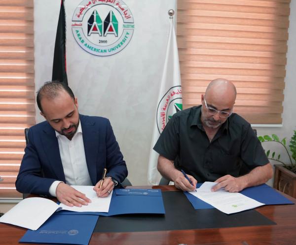 توقيع مذكرة تفاهم بين الجامعة العربية الأمريكية والمركز العربي لتطوير الإعلام الاجتماعي