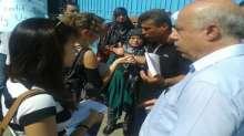 إعتصام امام مكتب الاونروا للاساتذة والمعلمين الاونروا العاملين مع الاطلاب القادمين من سوريا