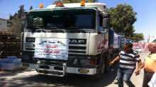 سكرتاريا حملة اغيثوا اهلنا في غزة بمحافظة نابلس تسير قافلة جديدة من التبرعات العينية