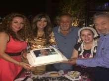 بالصور: بوسي تحتفل بشفاء طليقها نور الشريف وعودته للسينما