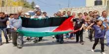 الاحتلال يقمع مسيرة النبي صالح التضامنية مع غزة