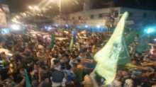 تظاهرات في رفح احتفالا بانتهاء العدوان على القطاع