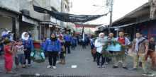 كشافة يافا تنظم مسيرة كشفية تضامنا مع قطاع غزة