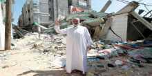 صور:هنية امام منزله المدمر في مخيم الشاطئ