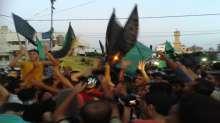 صور الاحتفال بالنصر في قطاع غزة