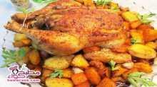 دجاج روستو بالخضار