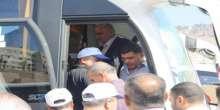 الرجوب يشارك في مراسم توديع ما لايزيد  عن 350 من حجاج بيت الله الحرام