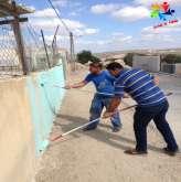"""""""حلوة يا بلدي"""" تنفذ فعالية ضمن حملة ترميم في مدرسة الياسرية"""