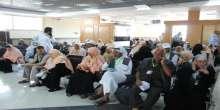 بالصور ..مغادرة الفوج الثالث من حجاج غزة ..أبو صبحة : حجاج فلسطين سفراء الشعب الفلسطيني