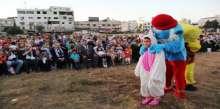 نادي الصحفي الصغير ينظم حفلاً ترفيهياً للأطفال وأسرهم في غزة