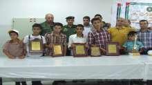 قيادة منطقة جنين تشارك في تكريم الفائزين في بطولة فلسطين للشطرنج للذكور فوج الولاء والوفاء لفخامة الرئيس