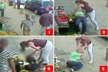 """بالفيديو: عشرينية تسحل أربعينية من شعرها بسبب """"موقف سيارة"""""""