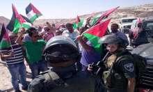 نشطاء الفصائل يتصدون لقرار الاحتلال القاضي بمصادرة أراضي بلدة  ابوديس
