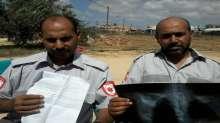 مسعفان يناشدان الرئيس محمود عباس المساعدة في استكمال علاجهم من اصابتهم في العدوان الاخير على غزة