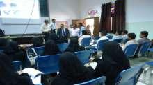 رئيس جامعة الحديدة يطلع على سير العملية التعليمية في كلية التربية الحديدة ومركز الربط الشبكي