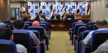 بعد تسنمه الادارة الانتخابية السيد صفاء الموسوي يلتقي المدراء العامين ومدراء الاقسام والشعب في المكتب الوطني
