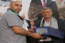 رام الله: مهرجان تكريمي للاسير المحرر اسماعيل الشبح بقريته رنتيس