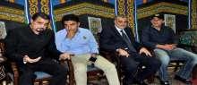 بالصور: السقا وصابرين أول المعزين في والد مها أحمد