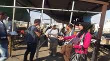 دائرة الشباب بالاتحاد العام لنقابات عمال فلسطين في قلقيلية تنفذ نشاطا على المعبر