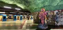 محطة مترو ستوكهولم: معرض فني قبل أن تكون محطة
