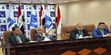 رئيس الادارة الانتخابية في مفوضية الانتخابات يجتمع مع المدراء العامين في المكتب الوطني ومكاتب المحافظات