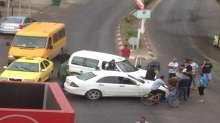 صور:  وقوع حادث سير باريحا ولا اصابات بشرية