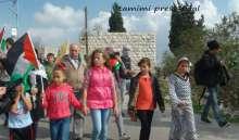 3 اصابات بالرصاص الحي جراء قمع الاحتلال مسيرة النبي صالح الاسبوعية