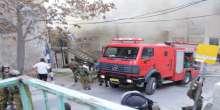 احراق الحاجز العسكري على مدخل شارع الشهداء بالخليل