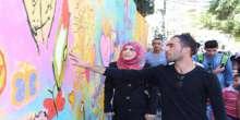 """انجاز جدارية قلقيلية المستقبل بعنوان """"نحن أقوياء معاً"""""""