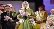 """تونسية تفوز بتاج """"الجمال الإسلامي"""" في مسابقة دولية"""