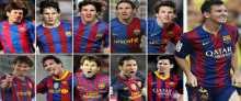 مقطع يظهر الهداف التاريخي ليونيل ميسي بـ 253 هدف بقميص برشلونة