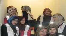 متطوعات نادي الفتيات ينفذن زيارة للمرضى في مستشفيات بقلقيلية