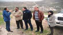 جولة ميدانية للارتباط العسكري والأوتشا الى عدد من بلدات جنوب نابلس
