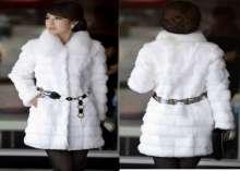 المعطف الفرو لإطلالة دافئة وأنيقة في شتاء 2015
