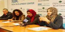 صحافيتان من غزة تستعرضان تجربتهما في الحرب في لقاء بجامعة بيرزيت
