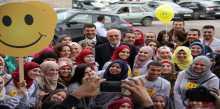 """إطلاق حملة """"لحظة .. ابتسم"""" في مجمع فلسطين الطبي"""