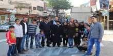 """طلائع مشروع الإنجاز الشبابي يطلقون أنشطة مبادرة """"امشي بحارتك"""" في محافظة قلقيلية"""