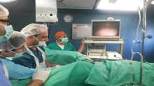 لاول مرة بايدي فلسطينية: اجراء عمليات جراحية لتفتيت حصى اكلى بالناظور في مجمع فلسطين الطبي