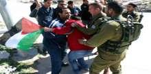 بالصور قوات الاحتلال تقمع مسيرة المعصرة وتمنع المشاركين من الوصول الى  الاراضي المصادرة