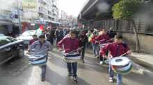 مسيرة شباب مخيم برج البراجنة باتجاه احتفال شهداء القنيطرة في الضاحية الجنوبية