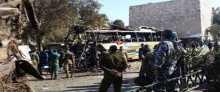 بالفيديو والصور ..مقتل 7 وجرح 20 في انفجار حافلة تقل لبنانيين وسط العاصمة السورية دمشق