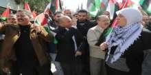 د.غنام تشارك بمسيرة ذكرى 10 أعوام على انطلاقة المقاومة الشعبية في بلعين