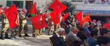 الديمقراطية تحيي ذكرى انطلاقتها 46 بعرض عسكري ومهرجان في المزرعة القبلية