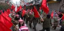 بالصورة : مسيرة حاشدة في رام الله بمناسبة الذكرى 46 لانطلاقة الديمقراطية