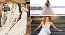 من النجمة التركية الأكثر أناقة بفستان الزفاف
