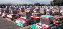 منظمة IOM الدولية مستمرة بتوزيع المساعدات إلانسانية على نازحي شنكال و بعشيقة و بحزاني في ختارة